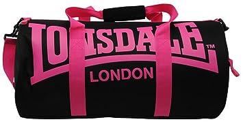 9dd2e06db4 Lonsdale Sac polochon fourre-tout de sport ou de voyage, noir/rose ...