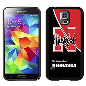Fashionable And Unique Designed With Ncaa Big Ten Conference Football Nebraska Cornhuskers 17 Protective Cell Phone Hardshell Cover Case For Samsung Galaxy S5 I9600 G900a G900v G900p G900t G900w Phone Case Black