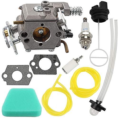(Mckin C1U-W8 WT-891 Carburetor + Air Filter Gas Cap fits Poulan Wild Thing Woodshark 1950 1975 2375 2375LE 2150 2055 2050 Chainsaw Parts Replace 545081885 530069703 WT-324 WT-600 WT-624 WT-625 WT-391)
