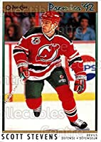 (CI) Scott Stevens Hockey Card 1991-92 OPC Premier 84 Scott Stevens