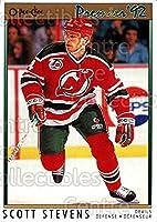 (CI) Scott Stevens Hockey Card 1991-92 OPC Premier 84 Scott Stevens