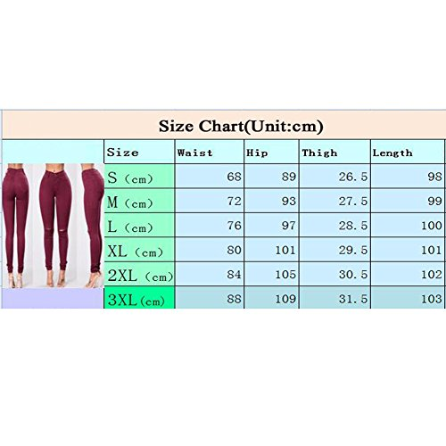 Jeans Lápiz Largos para Slim Desgastados Stretch Medias Mezclilla Pantalones Pantalones De Mujer Jeggings Causal Pantalones Hole ZZpRqwUrx