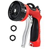 MATCC Garden Hose Nozzle Heavy Duty Spray Nozzle High Pressure Laboring-saving and Easy Storage, 8 Patterns for Watering Plants, Cleaning, Car Wash and Pets Bathing