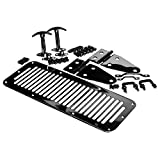 RAMPAGE PRODUCTS 7699 Black Complete Hood Kit (Hood Stops, Hinges, Vent, Footman Loop & Windshield Tie Downs) for 1978-1995 Jeep CJ & Wrangler YJ
