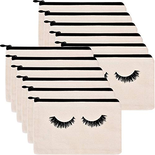 ABOAT 12 Pieces Eyelash Cosmetic Bags Makeup Bags
