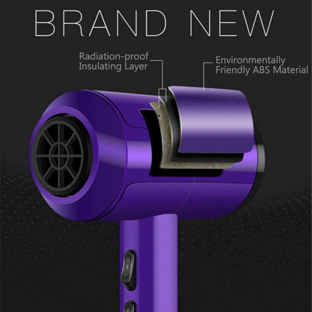 Ionic Blowdryer Professional Hair Dryer Blow Dryers Hot/cold Wind Low Noise Household Haardroger with Brush 3200W Plug AC 220V-purple 8 in 1 Purple 8 in 1 hk5f2
