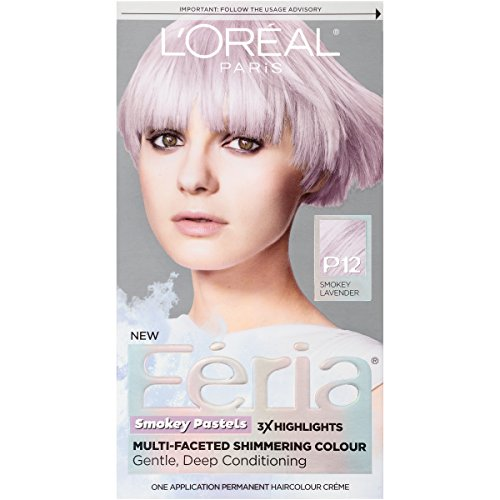 L'Oreal Paris Hair Color L'Oréal Paris Feria Pastels Hair Color, P12 Lavender Dusk (Smokey Lavender) price tips cheap