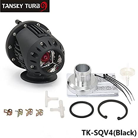 Universal Negro SQV SSQV BOV adaptador de Turbo Blow Off Valve BOV con brida IV 4 Color por defecto es negro tk-sqv4-bk: Amazon.es: Coche y moto