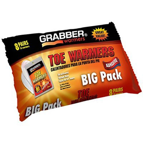 GRABBER WARMERS Toe Warmer Big Pack (8-Pack), 9 x 4.5-Inch by GRABBER WARMERS