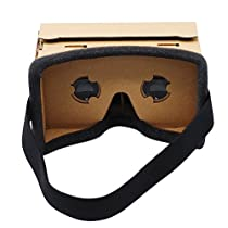 DIY 3D Google Cardboard Virtual Reality Glasses For iPhone 5/5s/6/6s/6plus/7/7plus/SE/5c and Samsung Glaxy LG HTC etc. Android Phones (3.5-6.0 inch)