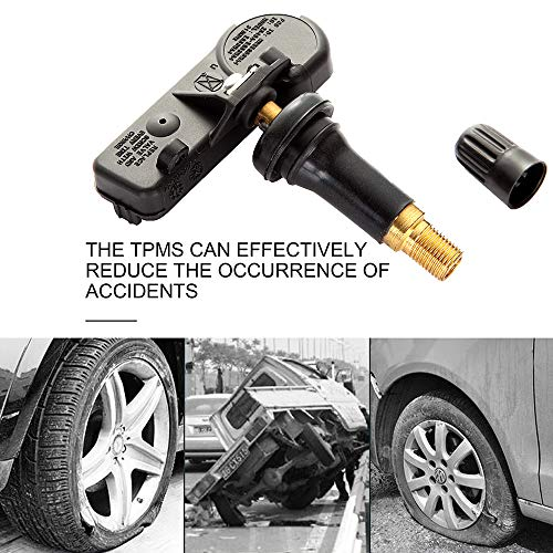cciyu Fits for 2007-2014 Buick 2006-2014 Cadillac 2006-2015 Chevrolet 2007-2015 GMC 2008-2010 Pontiac Original Equipment Non-Programmed Tire Pressure Monitoring System Sensor (TPMS) 315 MHz (2014 Gmc Sierra Tire Pressure Sensor Reset)