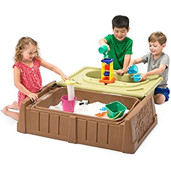 Amazon Com Step2 Play And Store Sandbox With Cover Toys