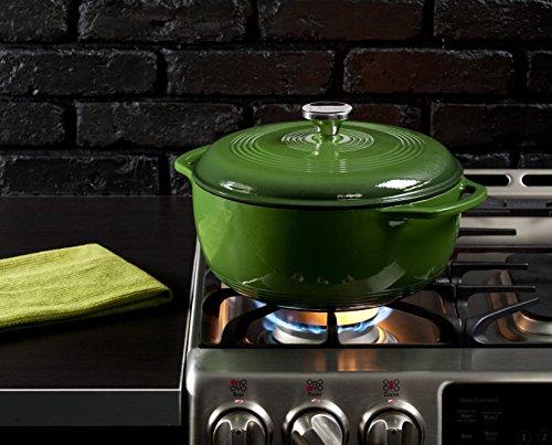 Lodge EC6D53 Enameled Cast Iron Dutch Oven, 6-Quart, Emerald Green by Lodge (Image #1)