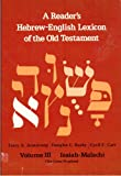 A Reader's Hebrew-English Lexicon of the Old Testament, Terry A. Armstrong and Douglas L. Busby, 0310370108