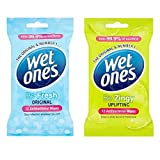 Wet Ones Antibacterial Be Fresh + Zingy Travel Adults Kids Face Baby Wipes 40Pks