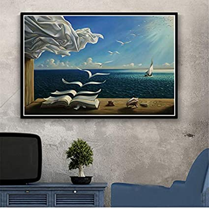Qingrenjie Nouveau Celebre Peintre Oeuvre Surrealisme Peinture Abstraite Affiche Mur Art Photo Affiches Et Impressions Toile Peinture Pour Chambre Decor A La Maison 50x70 Cm Sans Cadre Amazon Fr Cuisine Maison