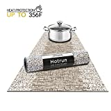 Hotrun 2-in-1 Decorative Table Runner and Protective Trivet Your Elegant Table Runner and Heat-Resistant Trivet All in One (Wood & Lace)