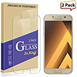 ZeKing [2-Pack] Samsung Galaxy A5(2017) Tempered Glass Screen Protector, 0.33mm 2.5D Edge 9H Hardness [Anti Scratch][Anti-Fingerprint] Bubble Free, Lifetime Replacement Warranty