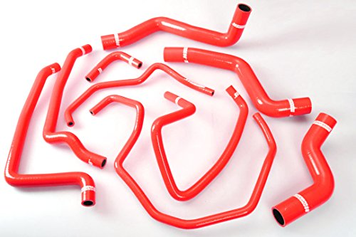 Autobahn88 Radiator Coolant & Heater Silicone Hose Kit for 2003-2012 Mazda RX8 SE3P 13B MSP (Red -without Clamp Set) ()