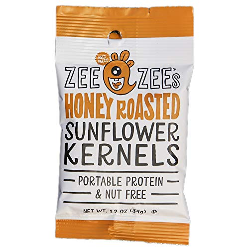 Zee Zees Sunflower Kernels, Honey Roasted, 1 oz, 48 pack