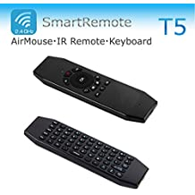 VSHARE USB Wireless Air mouse Gyration Fly Mouse multifunction Smart IR Remote Mini Keyboard for Android TV Box (T5M)