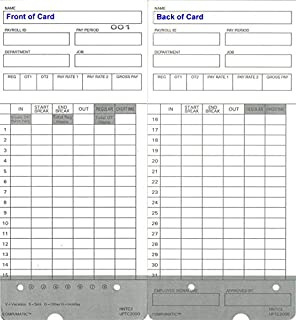 300 time cards for upunch hn4000 autoalign calculating time clock fits all hn2000hn4000 - Upunch Time Cards