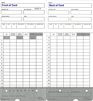amazon com 300 time cards for upunch hn4000 autoalign calculating