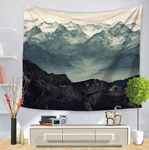 BOBSUY Montañas ondulantes Paisaje Pared Tapiz Hippie ...