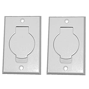 (2) Central Vacuum White Inlet Valves for Beam Central Vac - White Round Door""