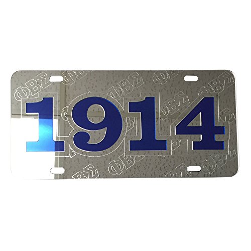 Phi Beta Sigma License Plate Car Tag   Foudning Year  Silver   6209