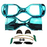 Hoverboard Gold Chrome Best Deals - Segmart 6.5 '' Two Wheel Metallic Color Hover Board Electric Self Balancing Chrome Scooter Outer Shell Replacement DIY (Chrome Blue)