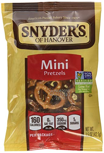 Snyder's of Hanover Mini Pretzels, Single-Serve 1.5 Ounce, 48 Count
