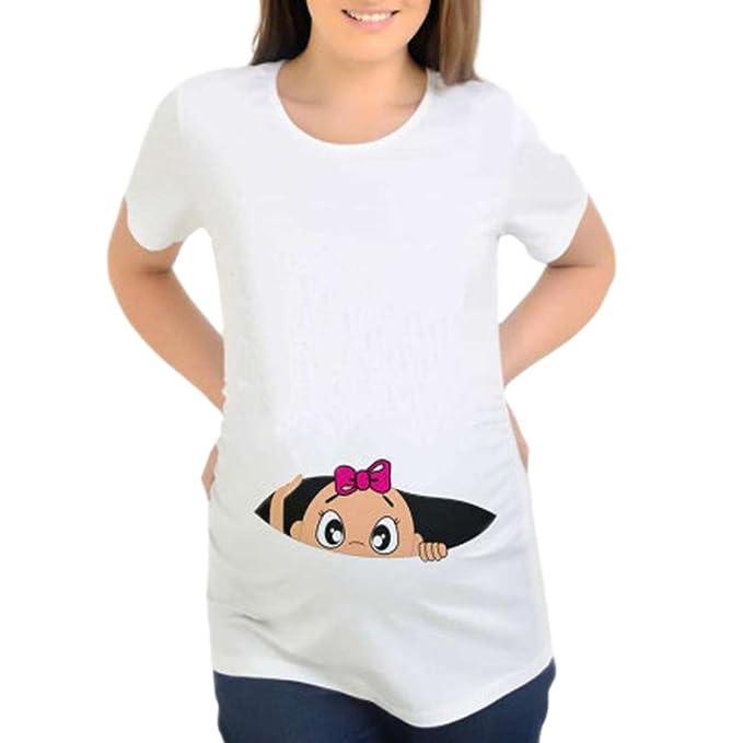 Amphia Ropa Embarazadas Vestido Blusa de enfermería para Mujeres Blusa de enfermería para bebés Blusa de