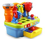 Introductory Sale Musical Learning Workbench Toy with Tools, Engineering Sound Effects and Lights, and Shape Sorter for Toddlers
