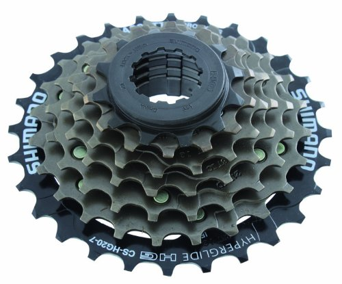 Shimano 7 Speed Cassette CS-HG200-7 (Brown/ Black) by SHIMANO