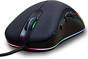 YL Mouse Gaming Wired Mouse Desktop Computer Laptop Home External RGB Glow Non-Slip Mouse Cross Fire Pressure Gun Mouse League of Legends Sports Gaming Mouse