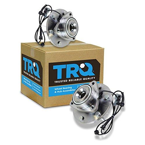 TRQ Front Wheel Hubs & Bearings Pair Set for Nissan Armada Titan Pathfinder QX56