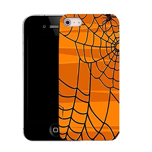 Mobile Case Mate IPhone 4 clip on Silicone Coque couverture case cover Pare-chocs + STYLET - spider web pattern (SILICON)