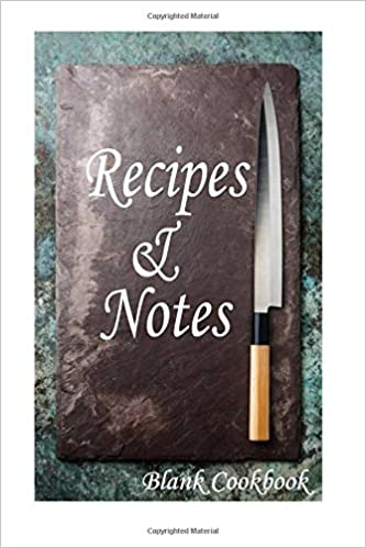 Recipes & Notes Blank Cookbook: Cooking recipe notebook