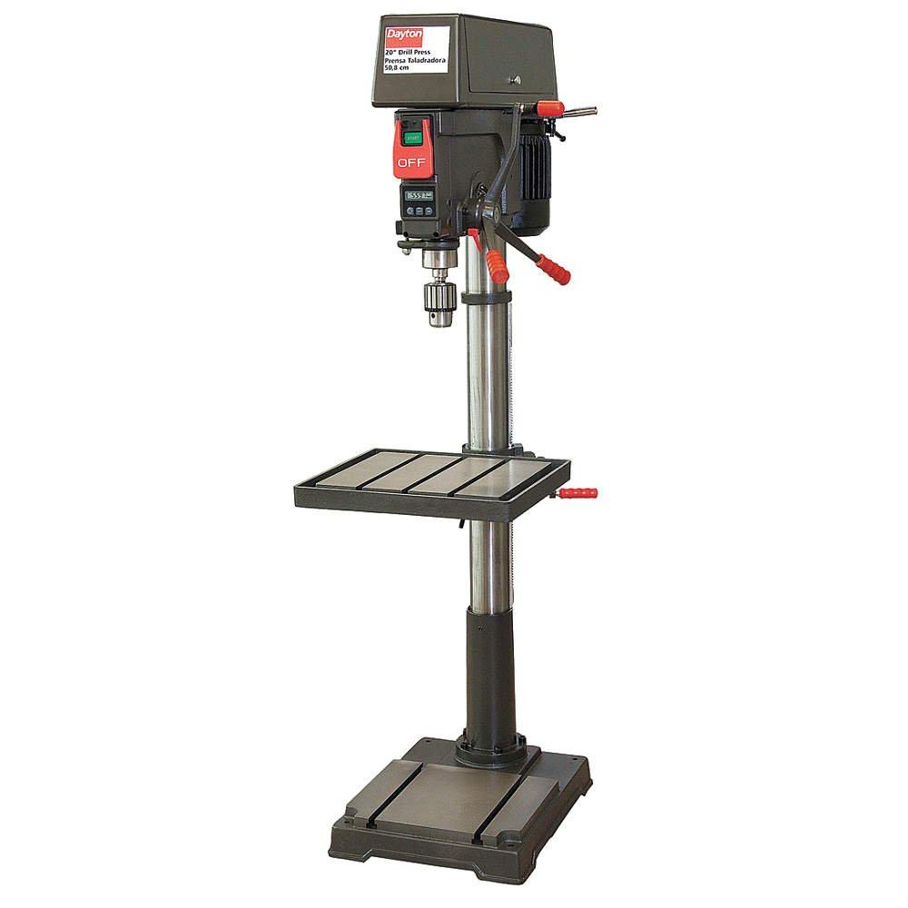 drill press parts. dayton floor drill press, 20 in, 1.5 hp, 120/240: amazon.com: industrial \u0026 scientific press parts s