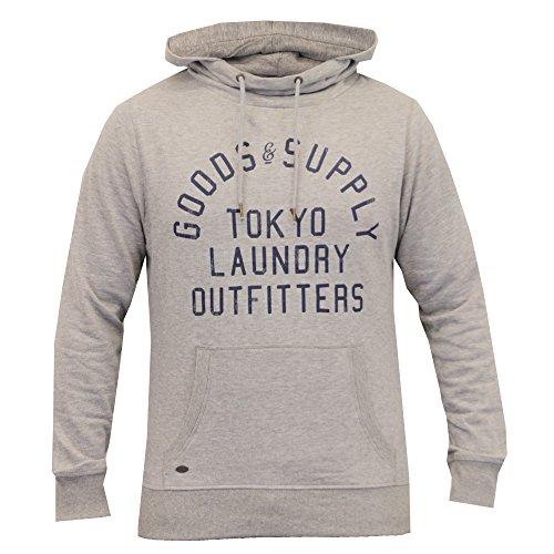 Grigio Invernale Pile Cappuccio 1d8416 Retina In Tokyo Da Casual Laundry Per Fodera Uomo Capelli Felpa Collo A wOfZFqB