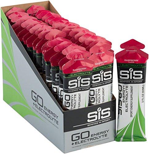 - Science in Sport GO Energy Plus Electrolyte Gels Raspberry, 60ml 30-Pack