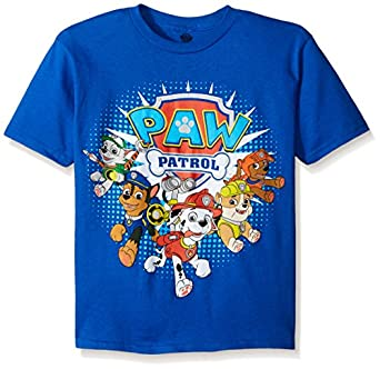 Amazon.com: Paw Patrol Boys' Group T-Shirt: Clothing