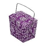 Mini Damask Print Pet Take-out Gift Favor Boxes, Pack of 12 (4' x 3.5' x 4', Purple/White)