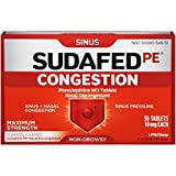 Sudafed PE Congestion Maximum Strength Non-Drowsy Tablets, 36 Count