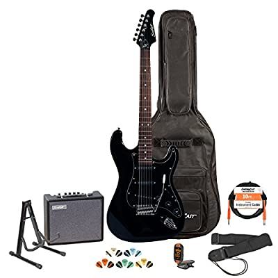 Sawtooth ST Style Electric Guitar- Includes: Accessories, Amp, Gig Bag & Lesson