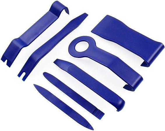 Juning Auto Demontage Werkzeug 7 Stück Removal Reparatur Werkzeuge Zubehör Befestigung Zierleistenkeile Verkleidungs Werkzeug Innen Verkleidung Ausbau Zierleistenkeile Set Auto