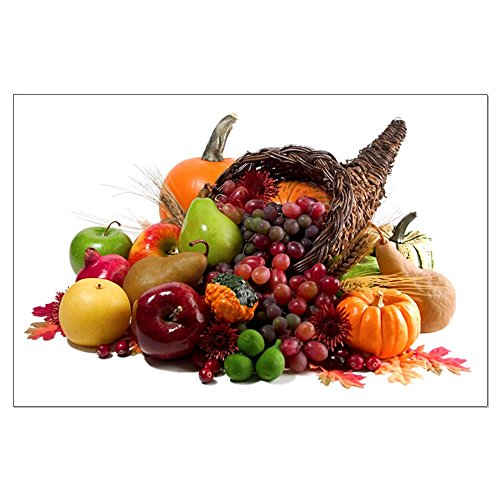 Large Poster Thanksgiving Turkey Cornucopia -