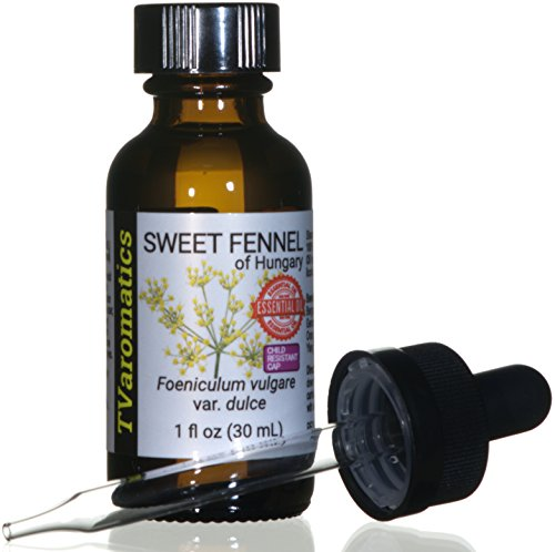 (TVaromatics Sweet Fennel of Hungary 100% Pure Essential Oil w/Child Resistant Dropper Cap – 1 fl oz (30 mL) - Foeniculum vulgare VAR. Dulce)