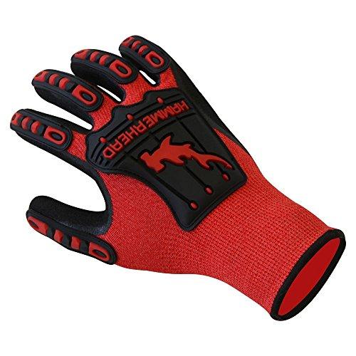 - Hammerhead Spearguns Dentex Gloves - Mahi Mahi Ahi Nitrile Grip - Cut Resistant (Lv5) and Puncture Resistant (Lv3) - Large